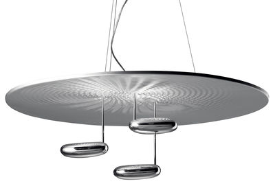 Luminaire - Suspensions - Suspension Droplet / Halogène - Ø 100 cm - Artemide - Chromé - Aluminium