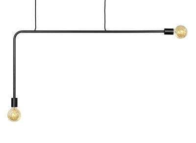 Suspension Essentials n°18-01 / Métal - L 110 x H 55 cm - Serax noir en métal