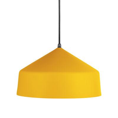Suspension Ézaro / Métal - Ø 40 cm - OUTDOOR / Câble avec prise (branchement secteur) - EASY LIGHT by Carpyen jaune mimosa en métal