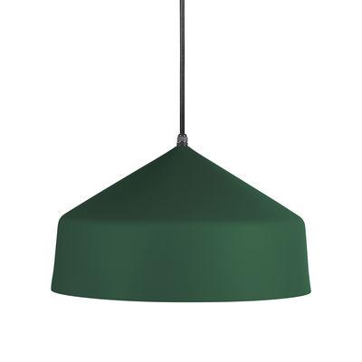 Suspension Ézaro / Métal - Ø 40 cm - OUTDOOR / Câble avec prise (branchement secteur) - EASY LIGHT by Carpyen vert foncé en métal