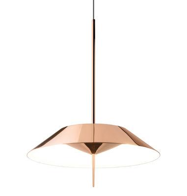 Suspension Mayfair LED / Ø 30 cm - Vibia cuivre brillant en métal