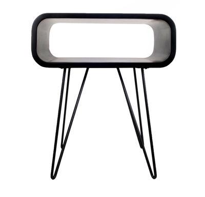 Table d'appoint Metro End / L 58 x H 50 cm - XL Boom noir en métal/bois