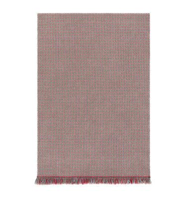 Interni - Tappeti - Tappeto Garden Layers - / 90 x 200 cm - Tessuto a mano di Gan - Goffrato / Blu & rosso - Polipropilene