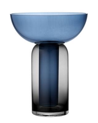 Déco - Vases - Vase Torus Large / H 35 cm - AYTM - Bleu nuit / Noir - Verre