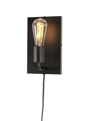 Lighting - Wall Lights - Madrid Large Wall light with plug by It's about Romi - Black - Painted iron