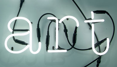 Lighting - Wall Lights - Neon Art Wall light with plug by Seletti - ART / White - Glass