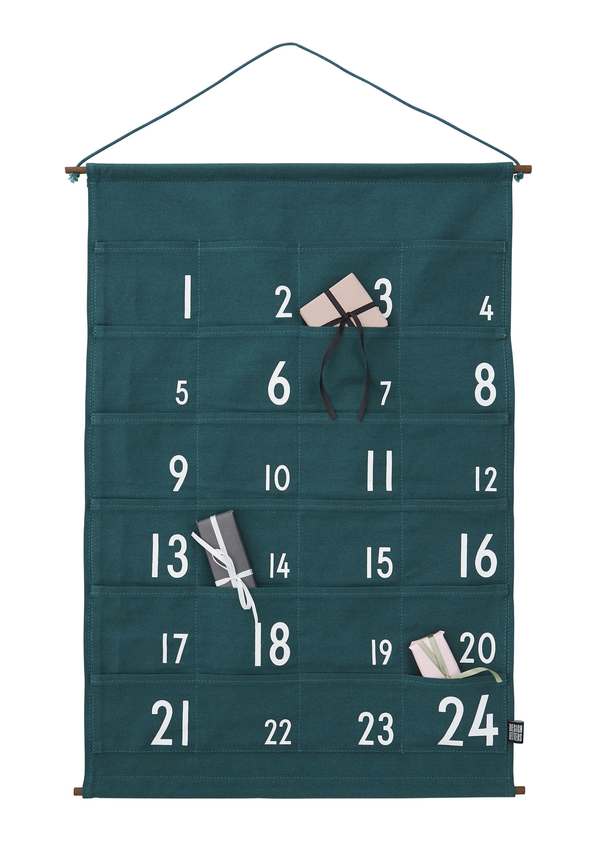 Decoration - Children's Home Accessories - Advent calendar - / Cotton by Design Letters - Green - Cotton