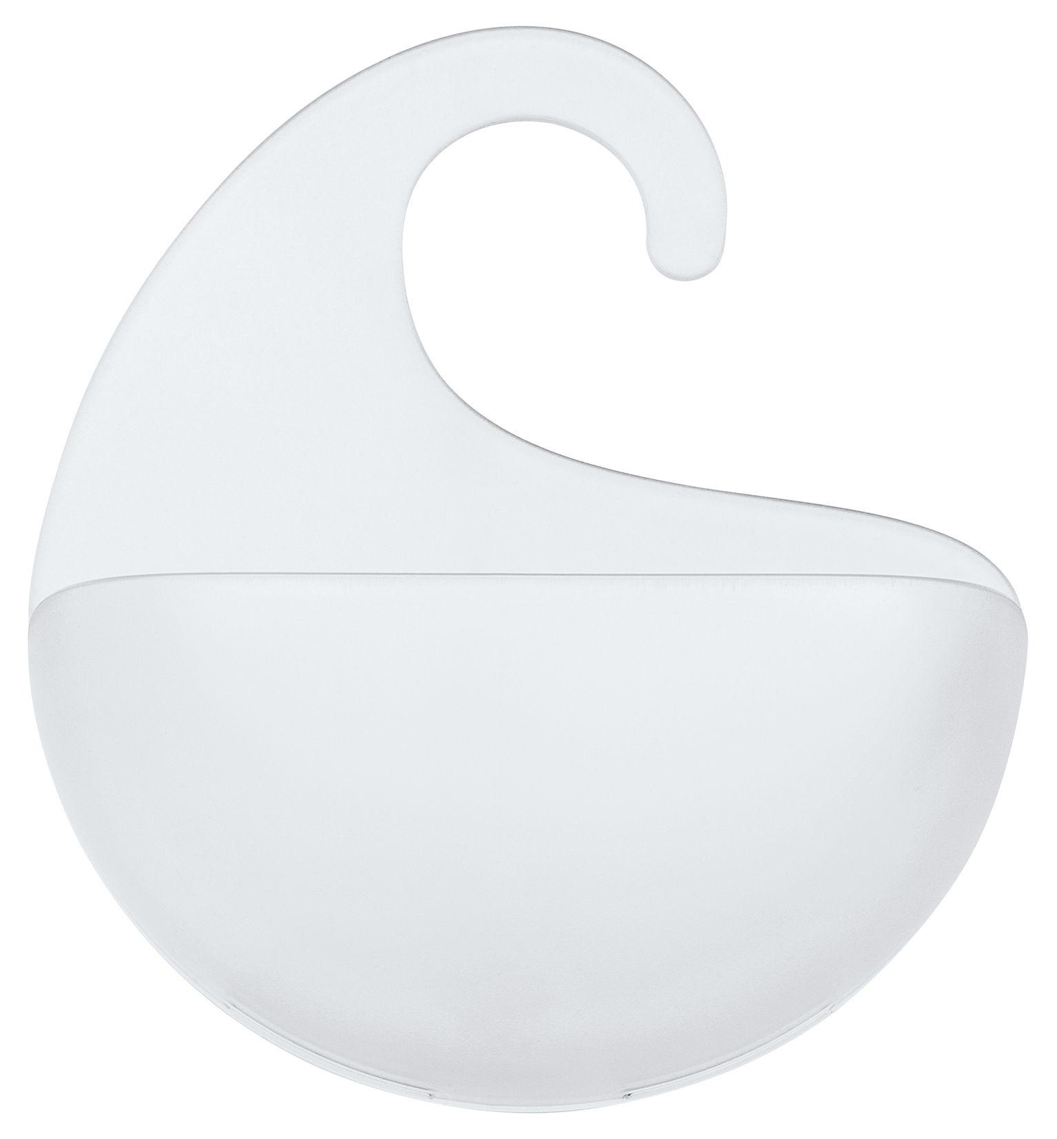 Accessoires - Accessoires salle de bains - Bac de rangement Surf XS / Á suspendre - H 17,6 cm - Koziol - Transparent - Styrolux®