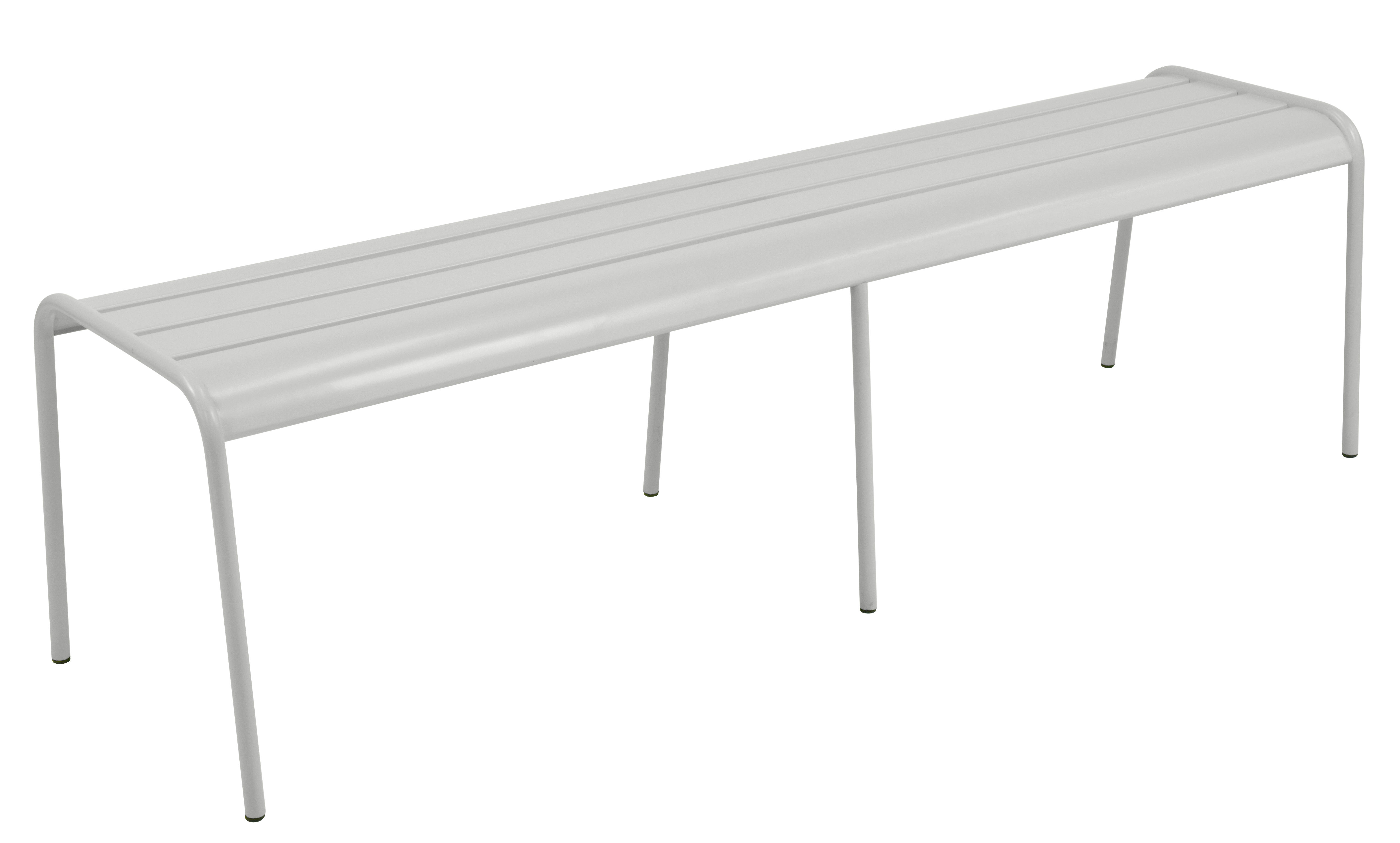 Furniture - Benches - Monceau XL Bench - L 160 cm / 3 to 4 seaters by Fermob - Metal grey - Painted steel