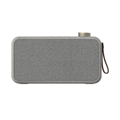 Accessories - Alarm Clocks & Travel Radios - aTUNE CARE Bluetooth speaker - / With DAB + / FM radio alarm by Kreafunk - Speckled grey - Leather, Metal, Plastic, Recycled polyester fabric, Wheat straw fibre