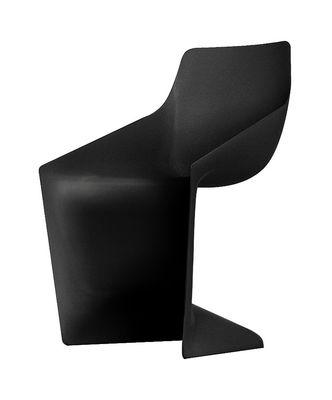 Chaise Pulp - Kristalia noir en matière plastique