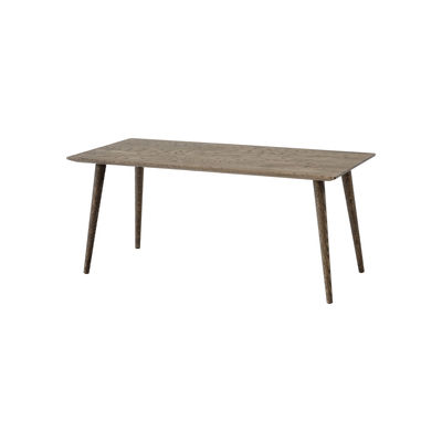 Furniture - Coffee Tables - In Between SK23 Coffee table - / 110 x 50 x H 48 cm by &tradition - Smoked oak - Smoked solid oak