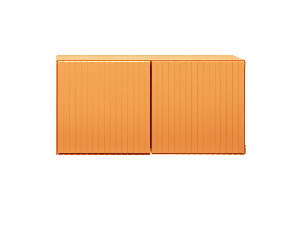 Furniture - Shelves & Storage Furniture - Toshi Crate by Casamania - Orange - Lacquered MDF, Metal
