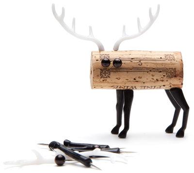Tavola - Bar, Vino, Aperitivo - Decorazione Corker Cerf - / Per tappo di sughero di Pa Design - Cervo - Materiale plastico