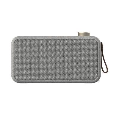 Accessoires - Réveils et radios - Enceinte Bluetooth aTUNE CARE / Avec radio-révéil DAB+ / FM - Kreafunk - Gris moucheté - Cuir, Fibre de paille de blé, Métal, Plastique, Tissu polyester recyclé
