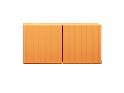 Möbel - Aufbewahrungsmöbel - Toshi Kiste / Modell N° 1 - L 51,2 cm x H 26 cm - Casamania - Orange - lackierte Holzfaserplatte, Metall