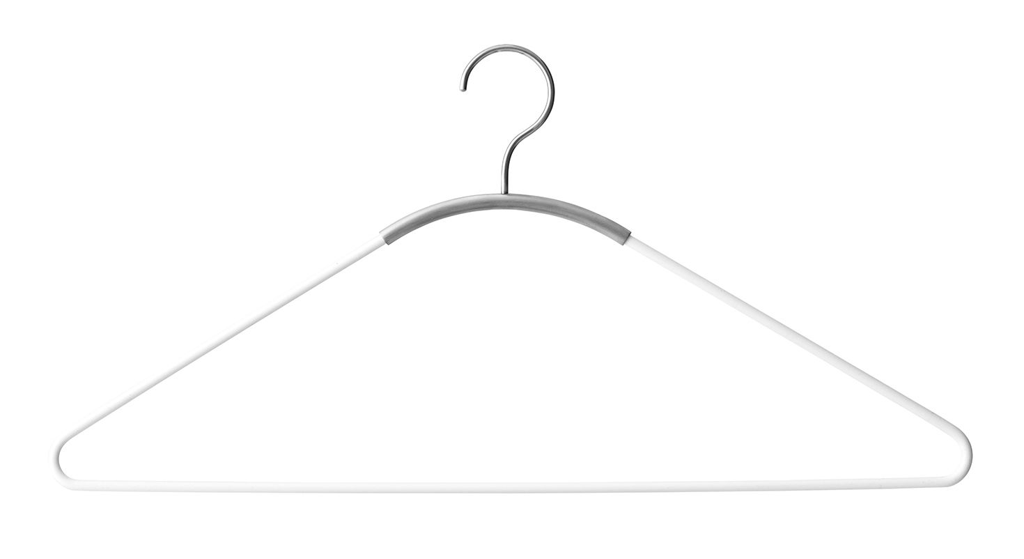 Dekoration - Garderoben und Kleiderhaken - Ava Kleiderbügel - Menu - Weiß / gebürsteter Stahl - Stahl
