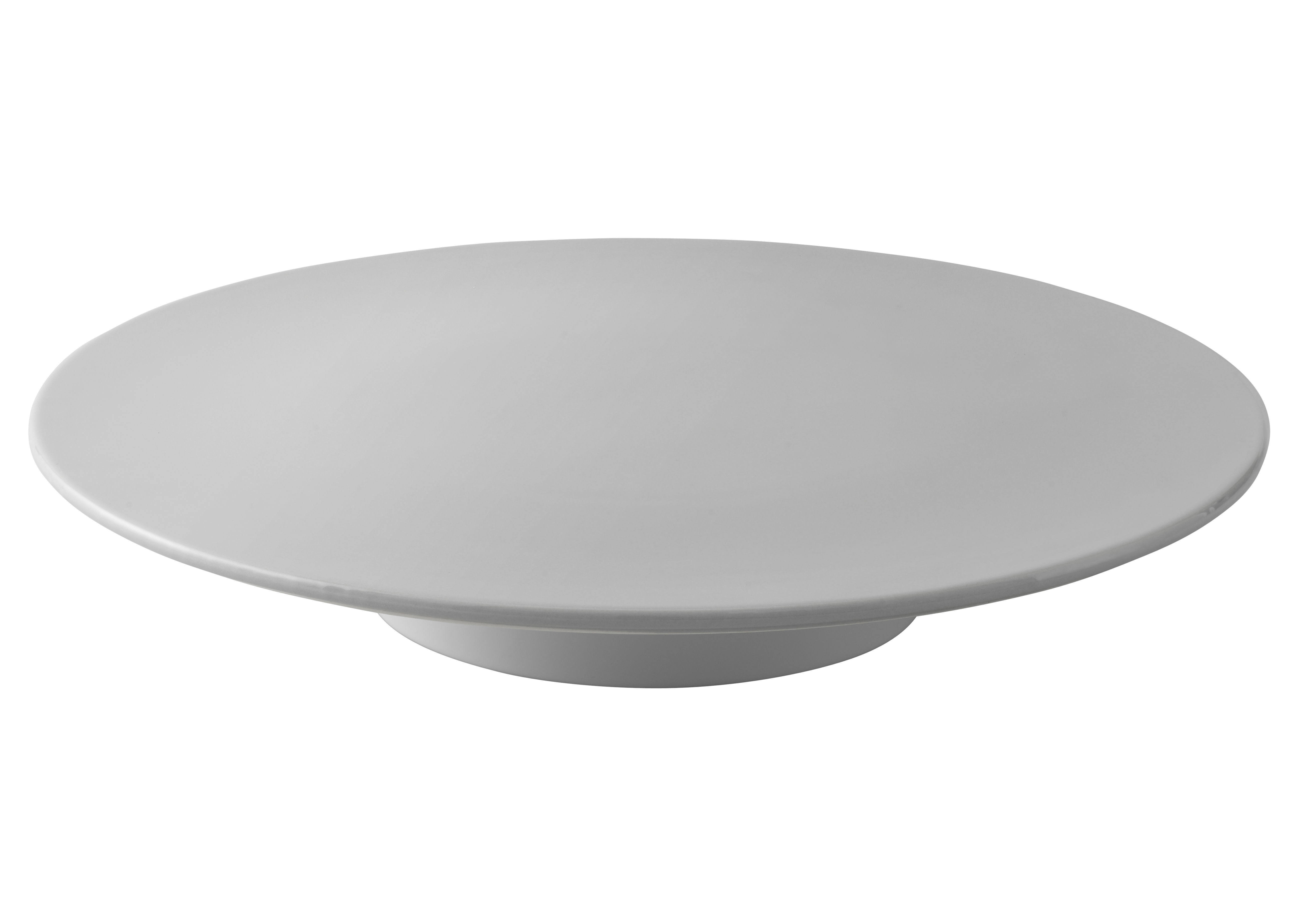Tischkultur - Tabletts - Emma Kuchentablett / Ø 32,5 cm - Stelton - Hellgrau - emaillierte Keramik
