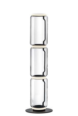 Lampe à poser Noctambule Cylindre n°3 / LED - Ø 25 x H 140 cm - Flos noir,transparent en verre