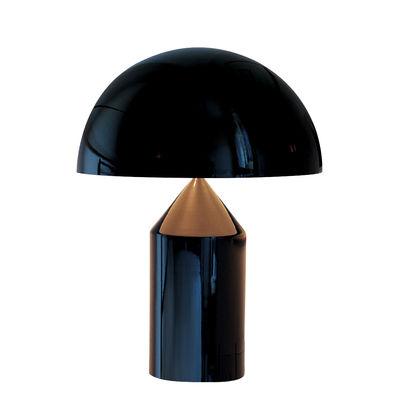 Luminaire - Lampes de table - Lampe de table Atollo Large Métal / H 70 cm / Vico Magistretti, 1977 - O luce - Noir - Aluminium verni