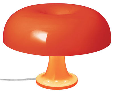 Lampe de table Nessino / Ø 32 cm - Artemide orange opaque en matière plastique