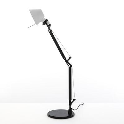 Luminaire - Lampes de table - Lampe de table Tolomeo Micro Bicolor - Artemide - Blanc / Noir - Acier, Aluminium