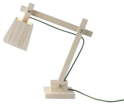 Luminaire - Lampes de table - Lampe de table Wood Lamp - Muuto - Bois / Fil vert - Pin