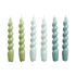 Spiral Long candle - / Set of 6 - H 19 cm by Hay
