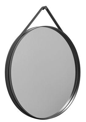 Miroir mural Strap / Ø 70 cm - Hay anthracite en métal