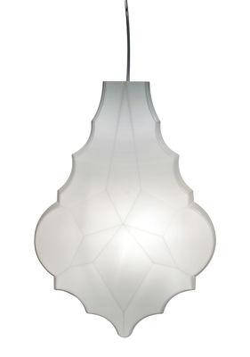 Lighting - Pendant Lighting - 24 Karati Pendant - Blown glass - H 54 cm by Karman - Milk white - Mouth blown glass