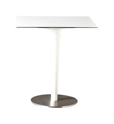 Jardin - Tables de jardin - Table ronde Pile Up / 70 x 70 cm - Serralunga - Blanc - HPL, Polyéthylène