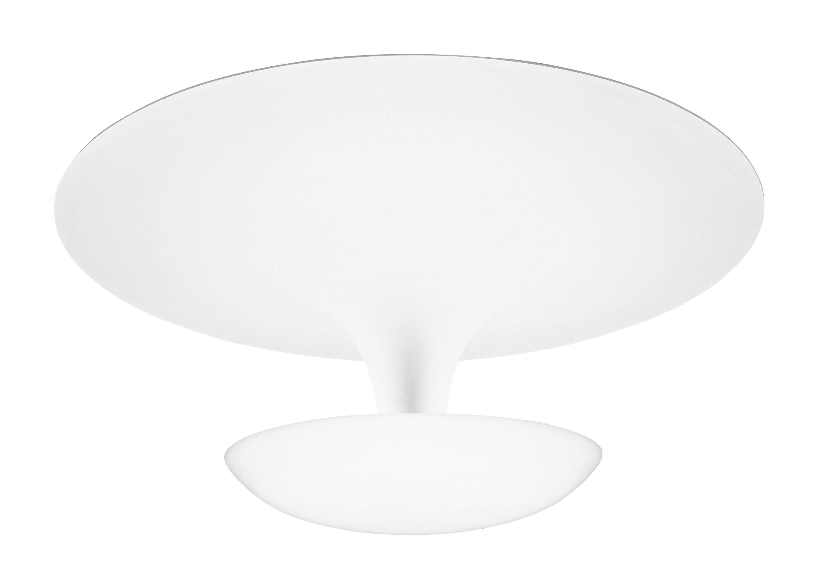 Luminaire - Plafonniers - Plafonnier Funnel / Ø 35 cm - Vibia - Ø 35 cm / Blanc - Aluminium peint