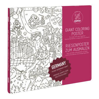 Poster à colorier Allemagne / 100 x 70 cm - OMY Design & Play blanc/noir en papier