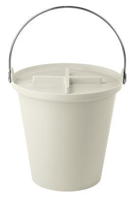 Poubelle H2O / Seau - 13 Litres - Authentics blanc en matière plastique