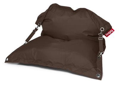 Furniture - Poufs & Floor Cushions - Buggle-up Pouf - With adjustable straps by Fatboy - Brown - Polyester