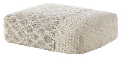 Furniture - Poufs & Floor Cushions - Mangas Space Rhombus Pouf - / 120 x 90 cm - H 30 cm by Gan - Ivory - Rubber foam, Virgin wool