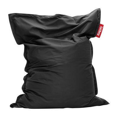 Pouf The Original Outdoor / Pour l'extérieur - Fatboy Larg 140 cm x H 180 cm noir en tissu