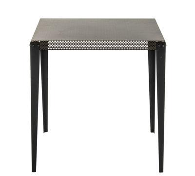 Möbel - Tische - Nizza quadratischer Tisch / 75 x 75 cm - Diesel with Moroso - Kupferfarben / Tischbeine schwarz - gefirnister Stahl