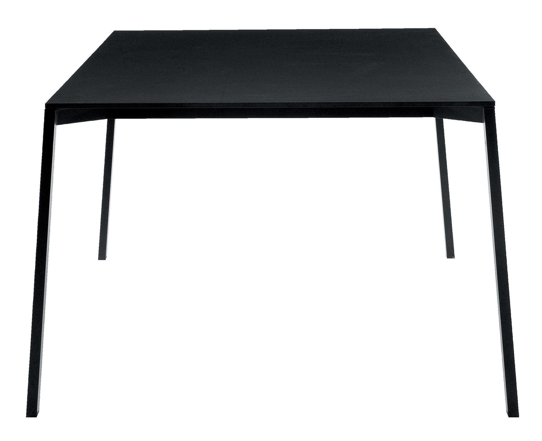 Outdoor - Tische - One rechteckiger Tisch Schwarz - Magis - 160 x 110 cm - schwarz - HPL, klarlackbeschichtetes Aluminium