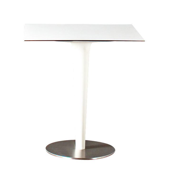 Outdoor - Garden Tables - Pile Up Round table - 70 x 70 cm by Serralunga - White - HPL, Polythene