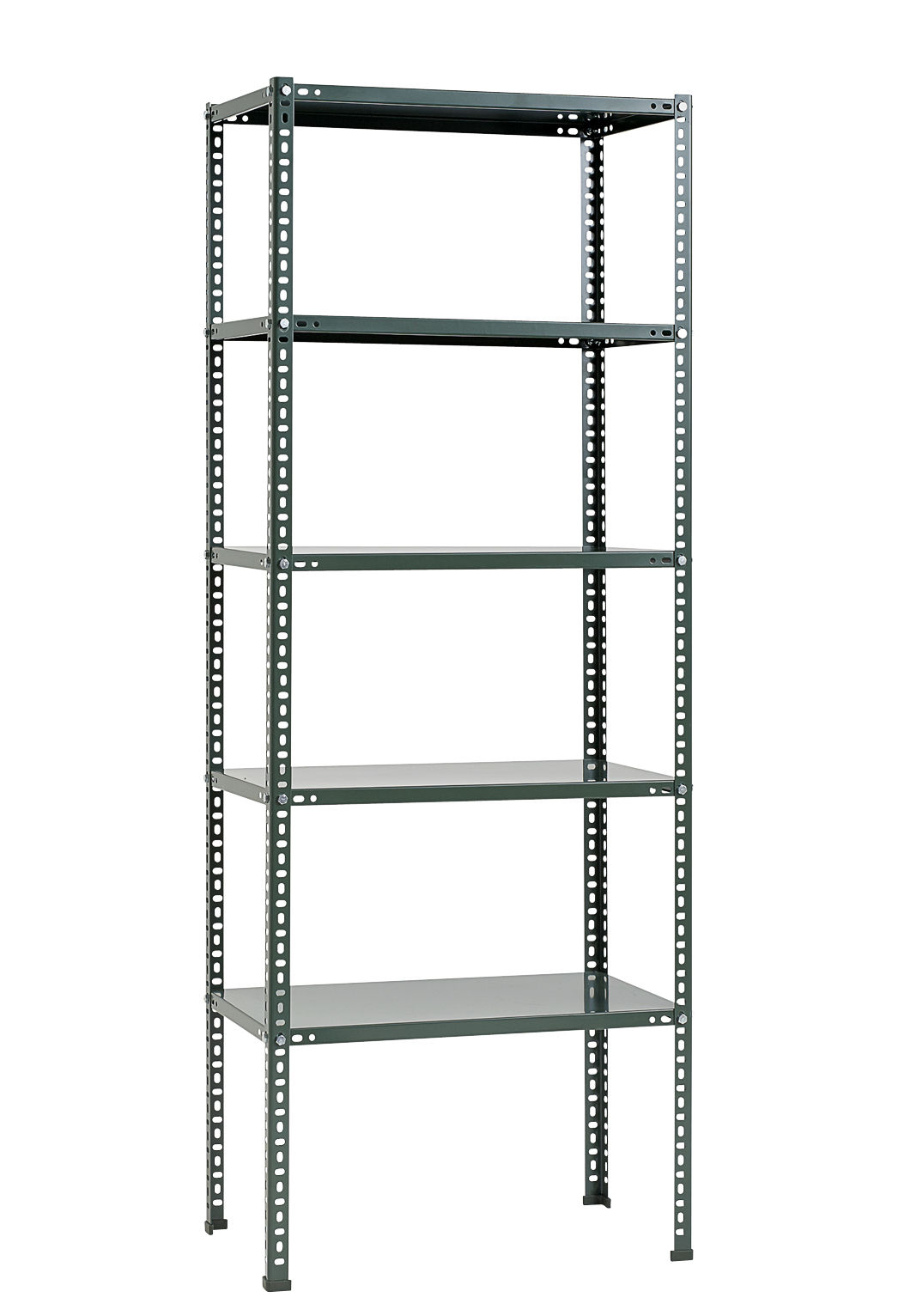 Arredamento - Scaffali e librerie - Scaffale Shelving Unit - / L 75 x H 200 cm - Metallo di Hay - Verde - Acier laqué époxy