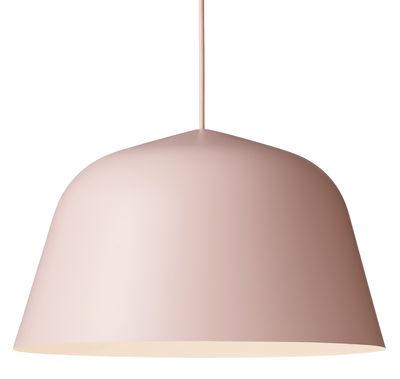 Luminaire - Suspensions - Suspension Ambit / Ø 40 cm - Muuto - Rose - Aluminium, Tissu