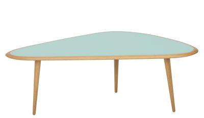 Table basse Large / 130 x 85 cm - Laque - RED Edition chêne naturel,vert minéral laqué en bois
