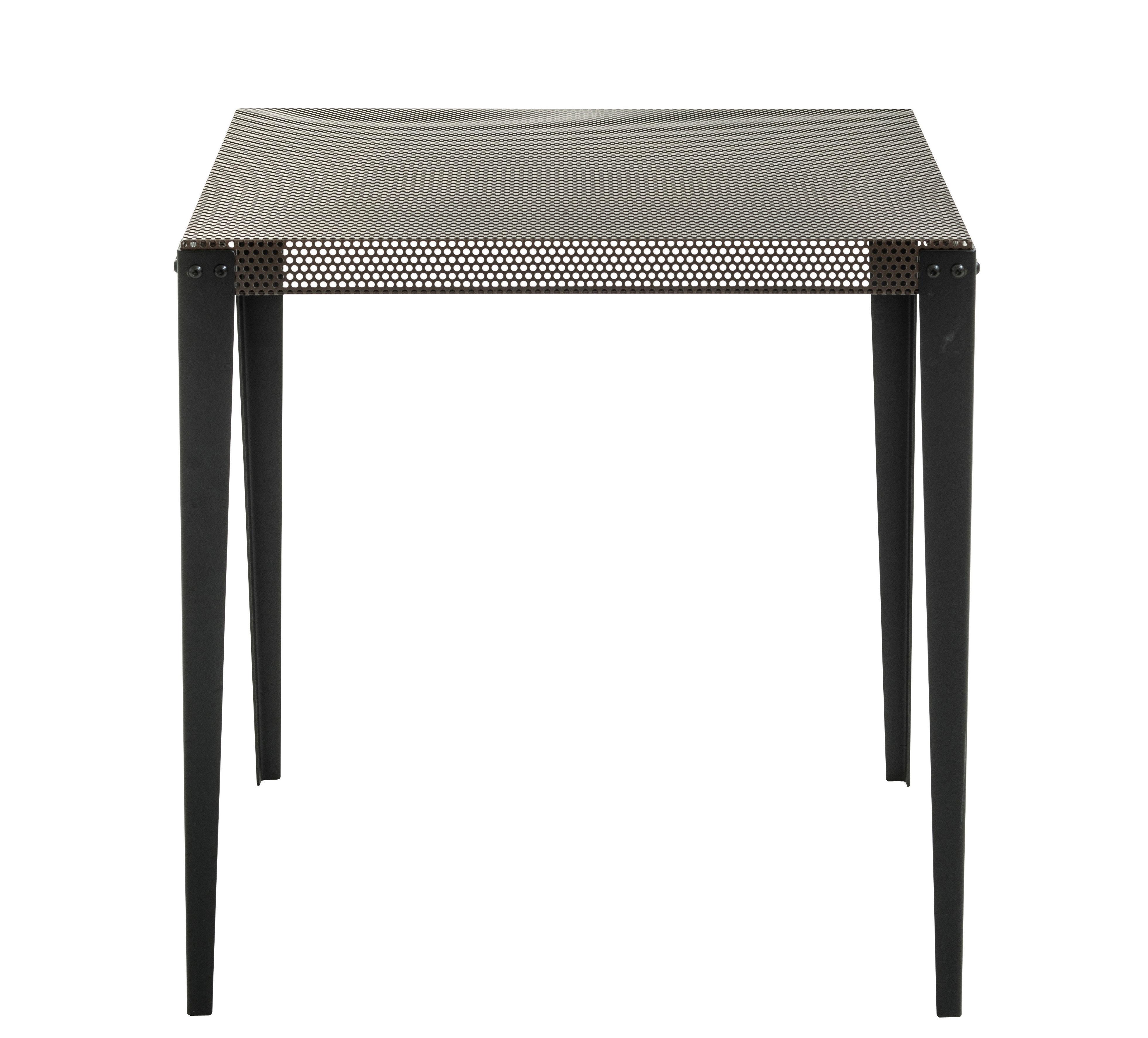 Mobilier - Tables - Table carrée Nizza / 75 x 75 cm - Diesel with Moroso - Cuivre / Pieds noirs - Acier verni