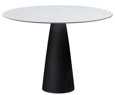 Table Hoplà - H 72 cm / Ø 100 cm - Slide blanc,noir en matière plastique