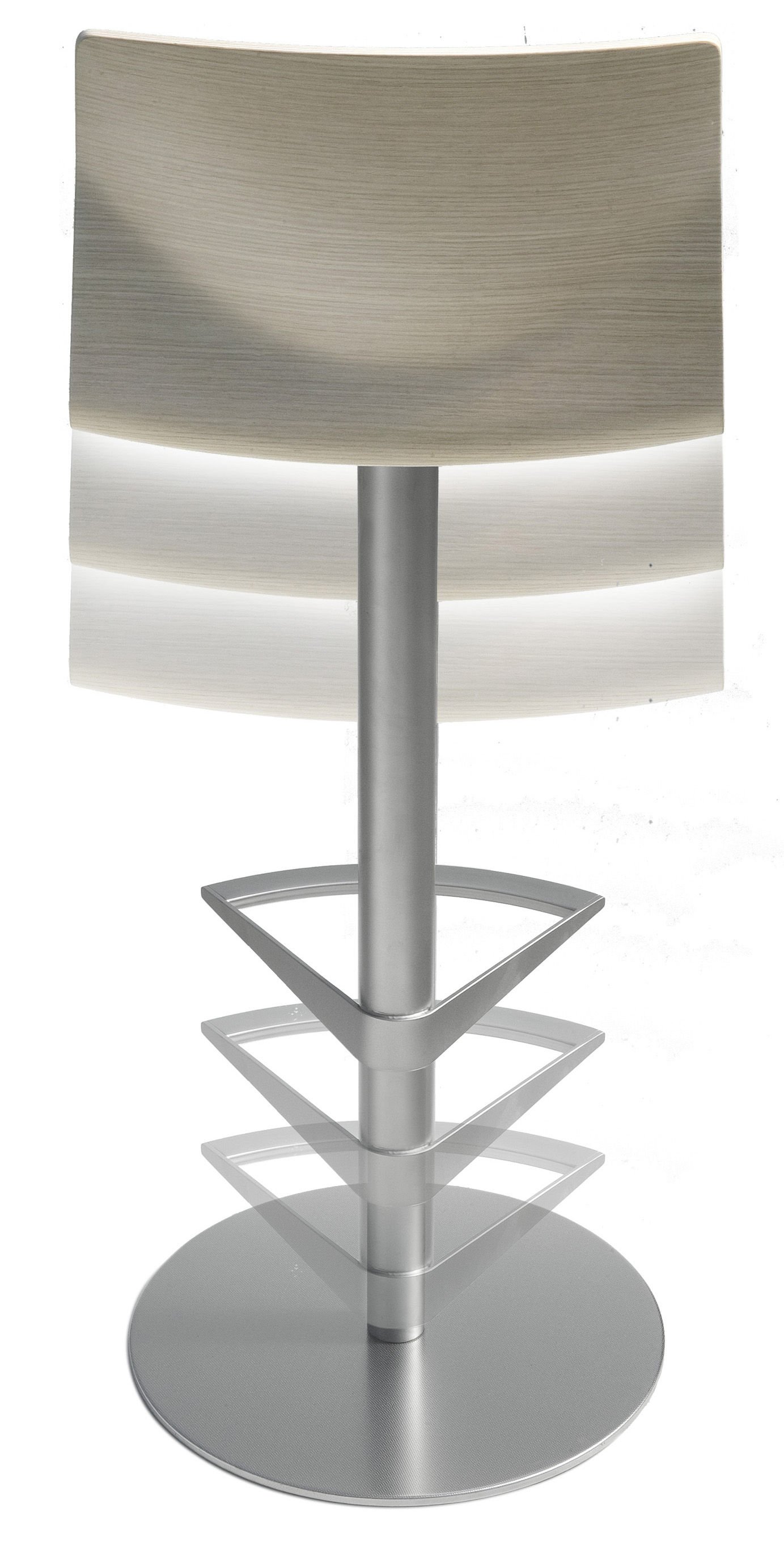 tabouret haut r glable kai assise bois pivotante noir vein lapalma made in design. Black Bedroom Furniture Sets. Home Design Ideas