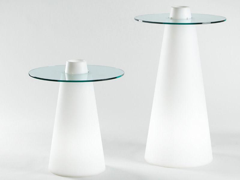 Tavoli Alti Bar : Peak tavolo bar alto luminoso h cm bianco trasparente by