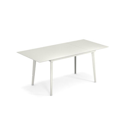 Outdoor - Tavoli  - Tavolo con prolunga Plus4 Balcony - / L 120 + 52 cm - 4 a 6 persone di Emu - bianca - Acciaio verniciato