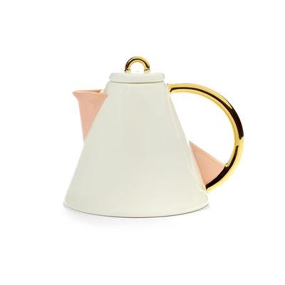Arts de la table - Thé et café - Théière Désirée / 57 cl - Serax - Blanc, or & rose - Porcelaine