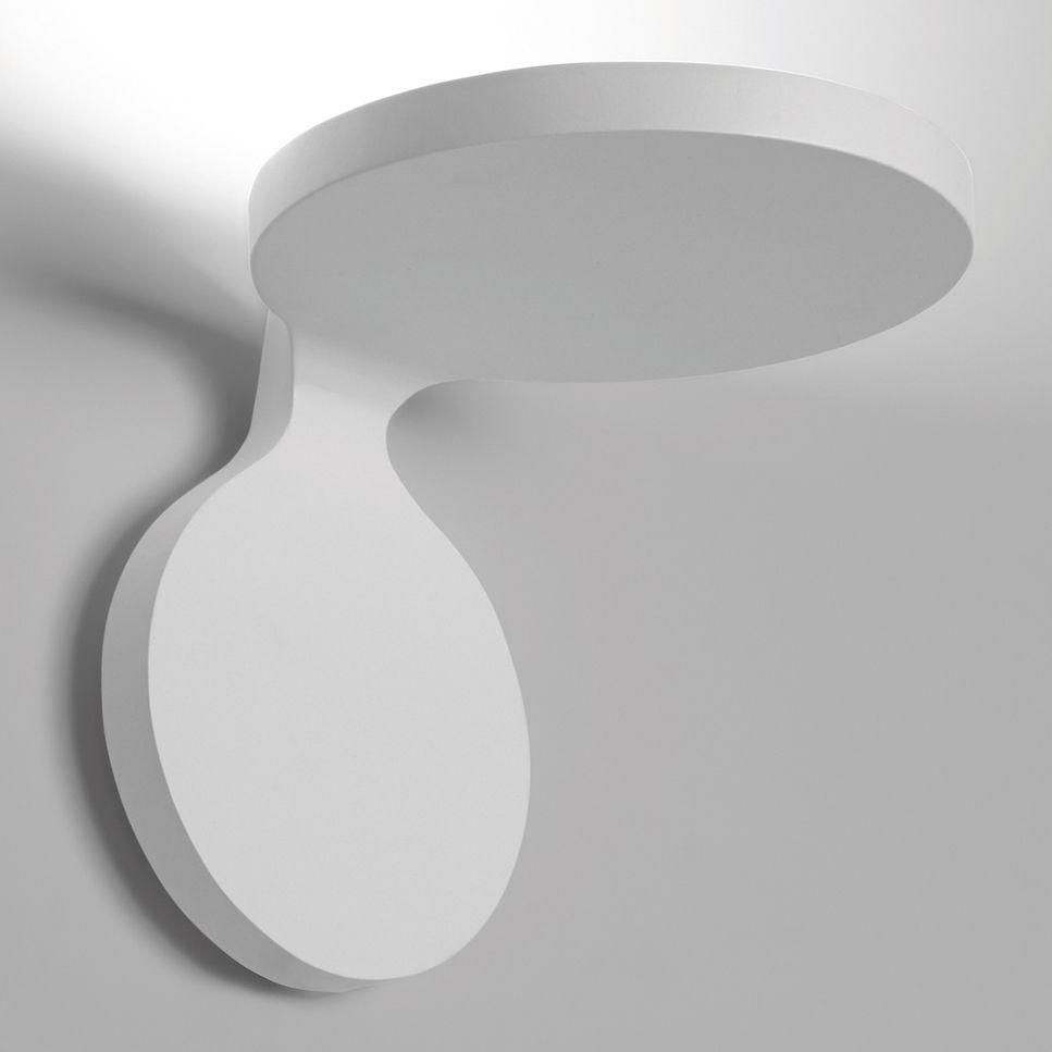 Luminaire - Appliques - Applique Rea Large LED / L 17 cm - Artemide - Blanc - Aluminium verni